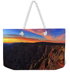 Weekender Tote Bag featuring the photograph On The Edge by Rick Furmanek