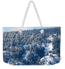 Weekender Tote Bag featuring the photograph On The Far Side by Will Borden