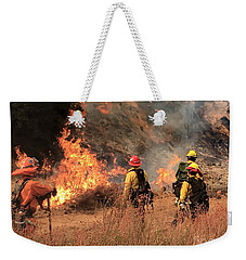 On The Fire Lines Weekender Tote Bag by Chris Tarpening