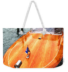 Weekender Tote Bag featuring the photograph On The Grand Canal by Mel Steinhauer