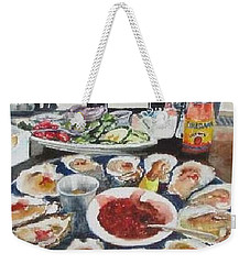 On The Half Shell Weekender Tote Bag