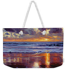 Weekender Tote Bag featuring the painting On The Horizon by Steve Henderson
