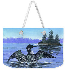 On The Lake Sketch Weekender Tote Bag