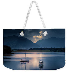 Weekender Tote Bag featuring the photograph On The Loch by Ryan Photography
