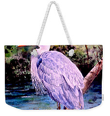 Weekender Tote Bag featuring the painting On The Lookout by Sher Nasser