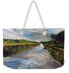 On The Mashpee River Weekender Tote Bag