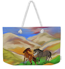 On The Mountian Weekender Tote Bag