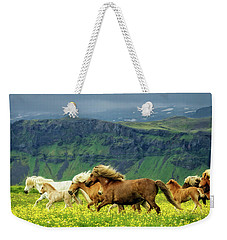 Weekender Tote Bag featuring the photograph On The Move by Joan Davis