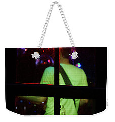 Weekender Tote Bag featuring the photograph On The Outside by Cassandra Buckley
