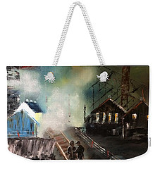 On The Pennsylvania Tracks Weekender Tote Bag