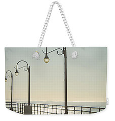 On The Pier Weekender Tote Bag by Linda Woods