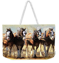 On The Plough Weekender Tote Bag by Trudi Simmonds