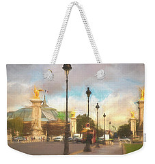 On The Pont Alexandre  Weekender Tote Bag