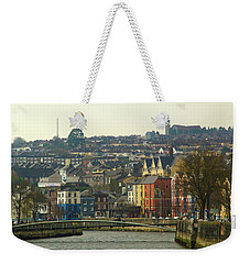 Weekender Tote Bag featuring the photograph On The River Lee, Cork Ireland by Marie Leslie