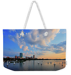 On The River Weekender Tote Bag by Rick Berk