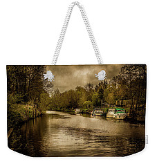 Weekender Tote Bag featuring the photograph On The River by Ryan Photography