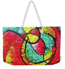 Weekender Tote Bag featuring the painting On The Road Again by Joan Reese