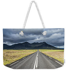 On The Road In Iceland Weekender Tote Bag