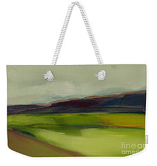 Weekender Tote Bag featuring the painting On The Road by Michelle Abrams