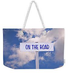 On The Road Sign Weekender Tote Bag