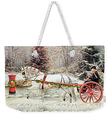 On The Road To Christmas Weekender Tote Bag
