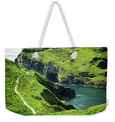 Weekender Tote Bag featuring the photograph On The Road To Tintagel by Connie Handscomb