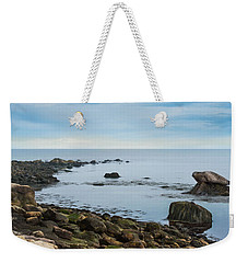 Weekender Tote Bag featuring the photograph On The Rocks by Robin-lee Vieira
