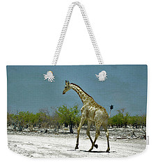 Weekender Tote Bag featuring the digital art On The Run Again by Ernie Echols