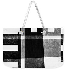 Weekender Tote Bag featuring the photograph On The Tarmac Designer Series 13a04bw by Carol Leigh
