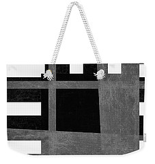 Weekender Tote Bag featuring the photograph On The Tarmac Designer Series 3a12bw by Carol Leigh