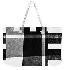 Weekender Tote Bag featuring the photograph On The Tarmac Designer Series 3a14bwflip by Carol Leigh