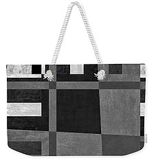 Weekender Tote Bag featuring the photograph On The Tarmac Designer Series 3a16bw by Carol Leigh