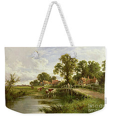 On The Thames Near Marlow Weekender Tote Bag by Henry Parker