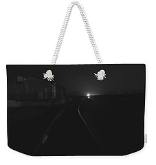 On The Tracks At Night Weekender Tote Bag