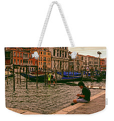 Weekender Tote Bag featuring the photograph On The Waterfront by Anne Kotan