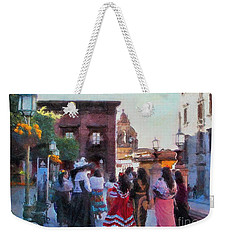 Weekender Tote Bag featuring the photograph On The Way by John Kolenberg