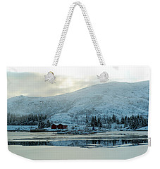 Weekender Tote Bag featuring the photograph On My Way Through Lofoten 2 by Dubi Roman