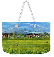 Weekender Tote Bag featuring the painting On The Way To Ubud 3 Bali Indonesia by Melly Terpening