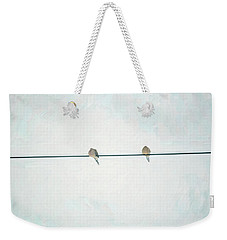 On The Wire Weekender Tote Bag