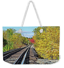 Weekender Tote Bag featuring the photograph On To Fall by Glenn Gordon