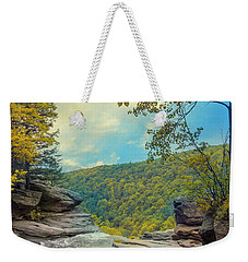 Weekender Tote Bag featuring the photograph On Top Of Kaaterskill Falls by John Rivera