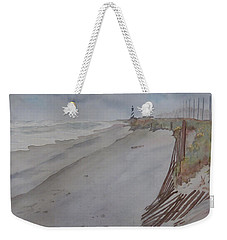 Weekender Tote Bag featuring the painting Once There Was A Lighthouse by Joel Deutsch