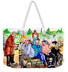 Once Upon A Park Bench Weekender Tote Bag