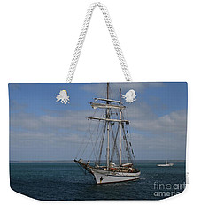 Weekender Tote Bag featuring the photograph Approaching Kingscote Jetty by Stephen Mitchell