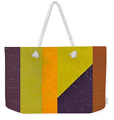 One By Three Weekender Tote Bag by Michelle Calkins