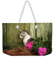One Cute Kitten Waiting At The Door Weekender Tote Bag