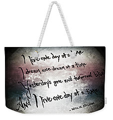 Weekender Tote Bag featuring the photograph One Day.... by Trish Mistric