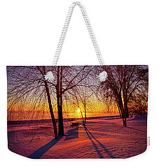 Weekender Tote Bag featuring the photograph One Day Closer by Phil Koch