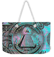 One-dollar-bill - $1 - Reverse Side Weekender Tote Bag
