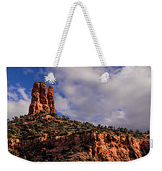 Weekender Tote Bag featuring the photograph One Finger Shy by Mark Myhaver